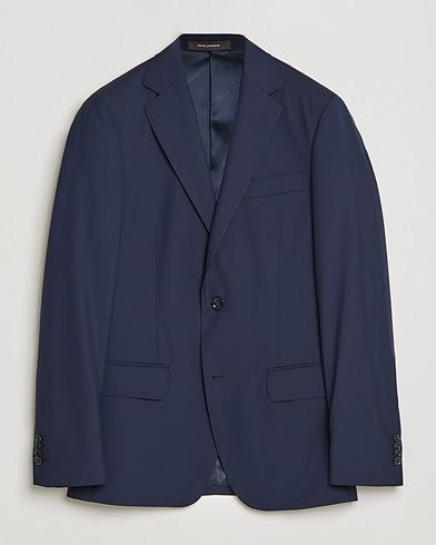 Oscar Jacobson Edmund Blazer Super 120's Wool Navy 46