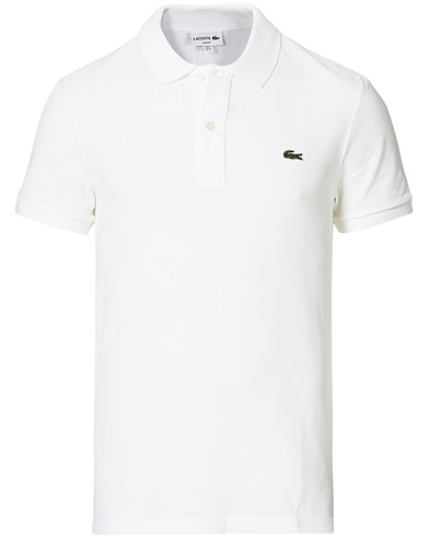 Lacoste Slim Fit Polo Piké White
