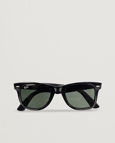 Ray-Ban Original Wayfarer Sunglasses Black/Crystal Green