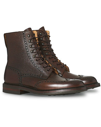Crockett & Jones Islay Boot Dark Brown Grained Calf
