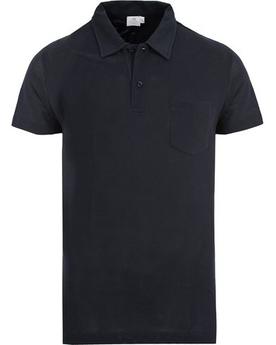 Sunspel Riviera Polo Shirt Navy