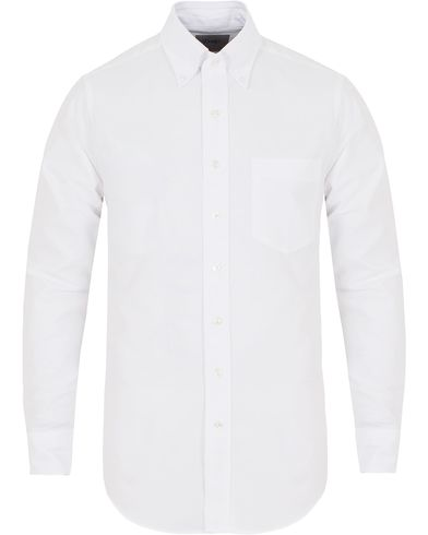 Drake's Slim Fit Oxford BD Shirt White