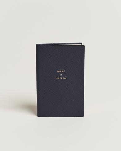 Smythson Panama Notebook Navy