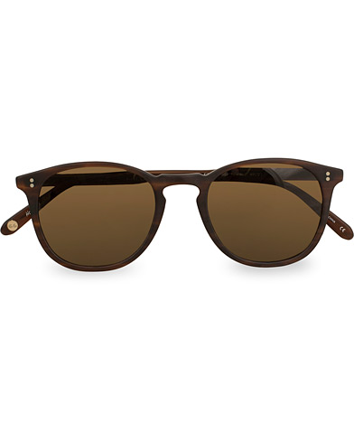 Garrett Leight Kinney 49 Sunglasses Matte Brandy Tortoise/Brown Polarized