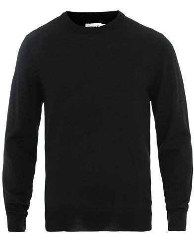 Filippa K Merino Round Neck Sweater Black in der Gruppe Kleidung / Pullover / Rundausschnitt bei Care of Carl (15702611r)