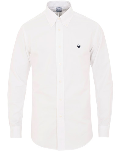 Brooks Brothers Regent Fit Non Iron Oxford Button Down Shirt White in der Gruppe Kleidung / Hemden / Freizeithemden / Oxfordhemden bei Care of Carl (15726711r)