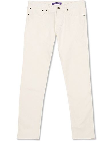 Ralph Lauren Purple Label Thomson Slim Fit 5-pocket Jeans Classic Cream