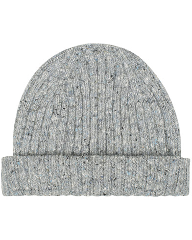 Drake's Merino Wool Donegal Hat Light Grey