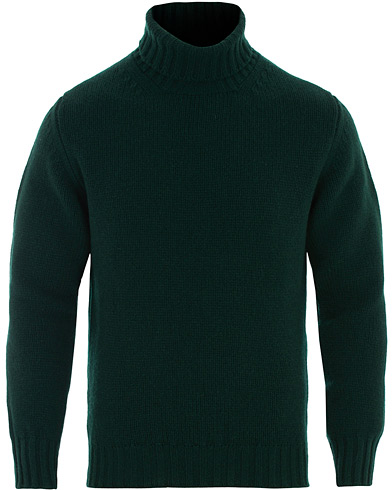 Drake's Lambswool Rollneck Green