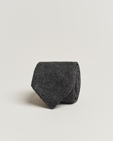 Drake's Cashmere 8 cm Tie Grey/Black