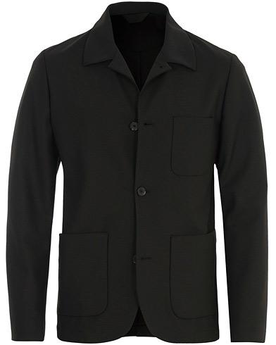 J.Lindeberg Oxford Sport Stretch Wool Overshirt Black