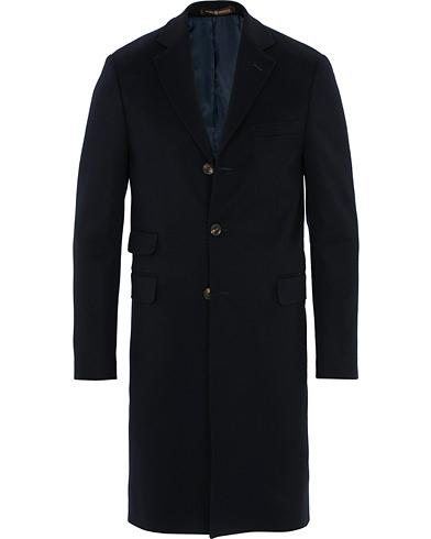 Morris Heritage Gillis Loro Piana Wool Coat Navy