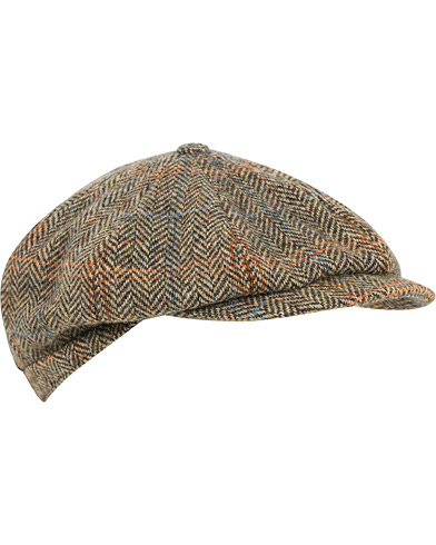 Lock & Co Hatters Tremelo Newsboy Cap Beige/Brown