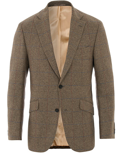 Walker Slater Edward Tweed Windowpane Blazer Brown