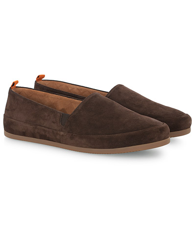 Mulo Sherling Lined Slipper Dark Brown Suede