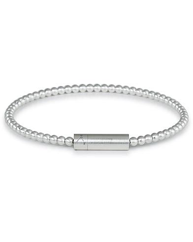 LE GRAMME Beads Bracelet Brushed Sterling Silver 11g