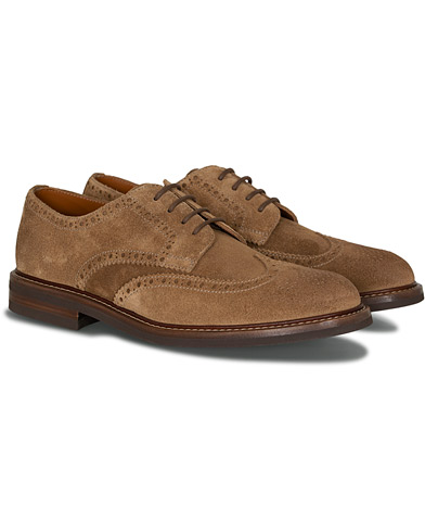 Brunello Cucinelli Wingtip Brogues  Brown Suede