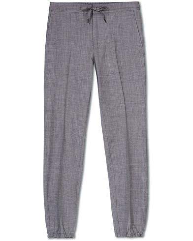 Z Zegna Techmerino Washable Drawstring Trousers Light Grey