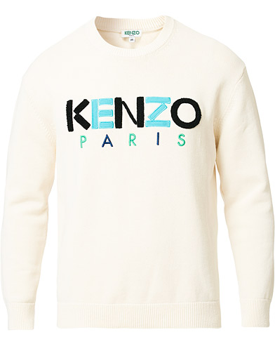KENZO Paris Crew Neck Jumper Off White in der Gruppe Kleidung / Pullover / Strickpullover bei Care of Carl (16735311r)