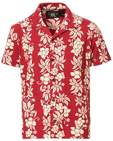 RRL Vintage Hawaiian Camp Shirt Bermuda Red