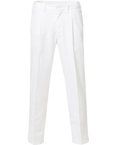 The Gigi Tonga Pleated Cotton Chinos White