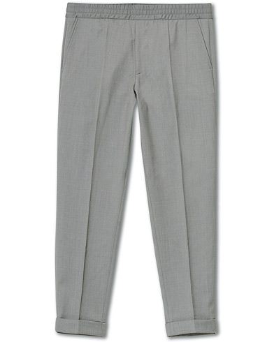 Filippa K Terry Gabardine Cropped Turn Up Trousers Mid Grey Mel in der Gruppe Kleidung / Hosen / Anzugshosen bei Care of Carl (16995411r)