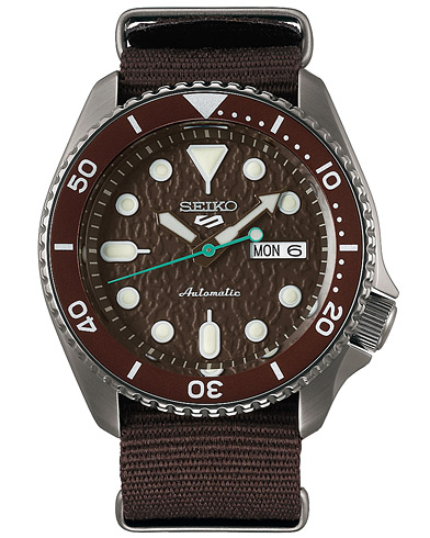 Seiko 5 Sports Mens 43mm 100m Automatic Nato/Brown Dial