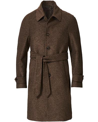 L.B.M. 1911 Raglan Belt Coat Brown