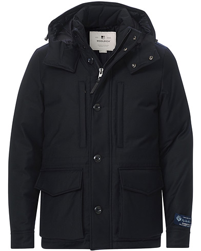 Woolrich Mountain Loro Piana Parka Melton Blue in der Gruppe Kleidung / Jacken / Parka bei Care of Carl (19698311r)