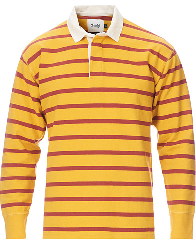 Drake's Long Sleeve Rugby Strype Yellow/Red in der Gruppe Kleidung / Pullover / Rugbypullover bei Care of Carl (19728411r)
