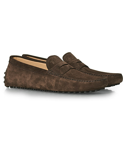 Tod's City Gommino Dark Brown Suede