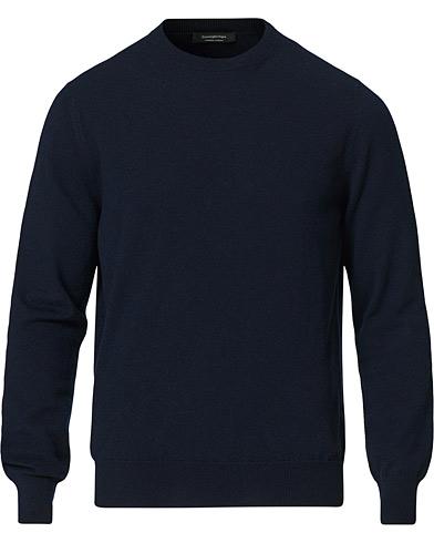 Ermenegildo Zegna Cashmere Crew Neck Sweater Navy