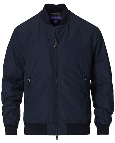 Ralph Lauren Purple Label Drayton Lined Bomber Jacket Chairman Navy