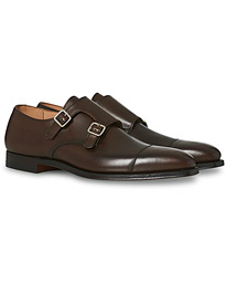 Crockett & Jones Lowndes Monkstrap Dark Brown Calf