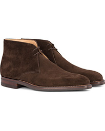Crockett & Jones Tetbury Chukka Dark Brown Suede