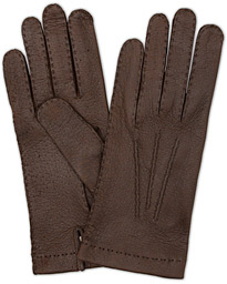 Peccary Handsewn Unlined Glove Espresso Brown