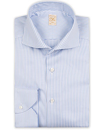 1899 Slimline Supima Cotton Striped Shirt White/Blue