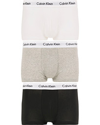 Calvin Klein Cotton Stretch Trunk 3-Pack Black/White/Grey
