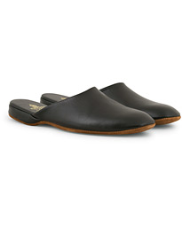 Crockett & Jones Mule Calf Home Slipper Black