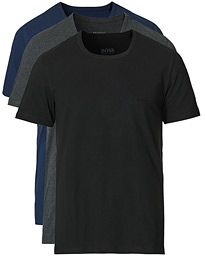 BOSS 3-Pack T-shirts Navy/Grey/Black