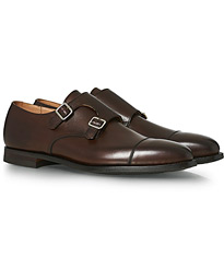 Crockett & Jones Lowndes Monkstrap City Sole Dark Brown Calf