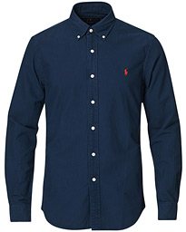 Polo Ralph Lauren Slim Fit Garment Dyed Oxford Shirt Navy