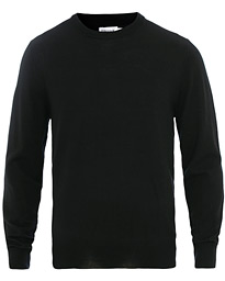 Merino Round Neck Sweater Black