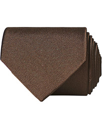 Amanda Christensen Plain Classic Tie 8 cm Brown
