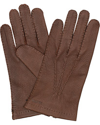 Hestra Henry Unlined Deerskin Glove Chocolate