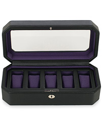 Windsor 5 Piece Watch Box Black Purple