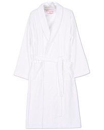 Cotton Velour Gown White