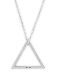 LE GRAMME Triangle Necklace 1.7 Sterling Silver