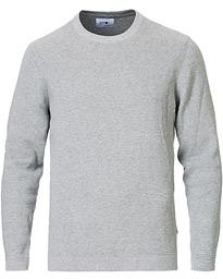 NN07 Julian Cotton Knitted Crew Neck Medium Grey S