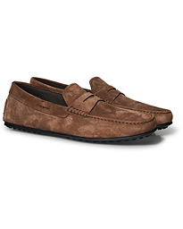 Tod's City Gommino Brown Suede